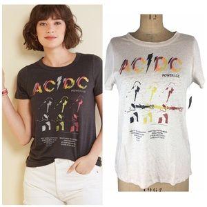 Chaser AC/DC Linen Blend Band T-Shirt